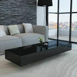Modern Coffee Table High Gloss Black Accent Tea Side Living
