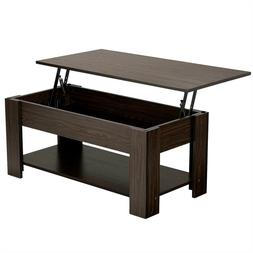 Modern Lift Top Coffee Table w/Hidden Compartment & Storage