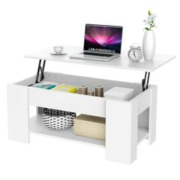 Modern Lift Top Coffee Table with Hidden Storage Compartment