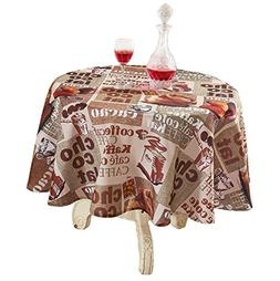 YEMYHOM Modern Printed Spill Proof Cloth Round Tablecloths