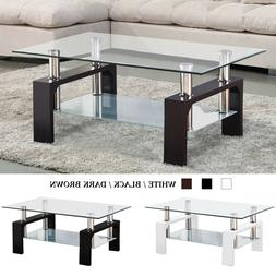 modern rectangle coffee table end side table