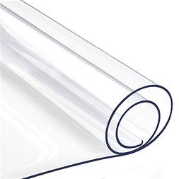 Table Protector Clear Vinyl Plastic Tablecloth Rectangle Woo