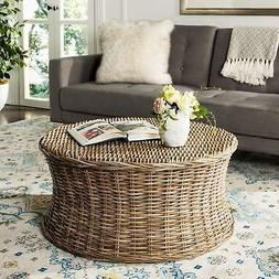 Natural Wicker Coffee Table Modern Living Room Furniture Ind