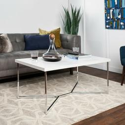 New Faux Marble Coffee Table with Chrome Frame