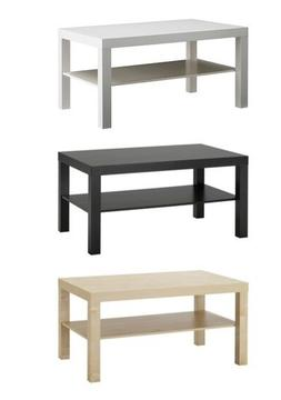 New Modern Lack Side Coffee End Table Black White Brown TV S