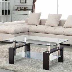 new rectangular tempered glass coffee table w