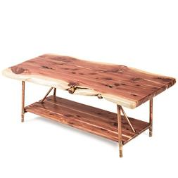 Niangua Furniture Live Edge Rustic Coffee Table - Cedar Wood