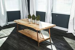 Niangua Furniture Live Edge Hickory Rustic Coffee Table with