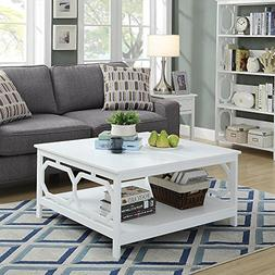 Convenience Concepts Omega Square 36-Inch Coffee Table, Whit