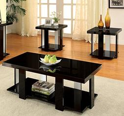 Furniture of America Oslo 3-Piece Modern Accent Tables Set,