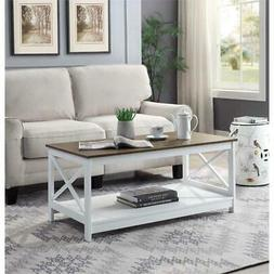 Convenience Concepts Oxford Coffee Table In White/Driftwood