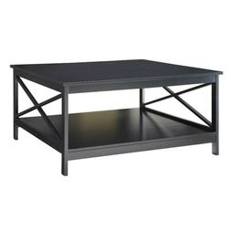 "Convenience Concepts Oxford 36"" Square Coffee Table, Black"