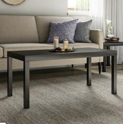 Mainstays Parsons Coffee Table, Black Oak BRAND NEW
