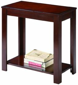 Pierce Espresso Finish Chairside End Table By Crown Mark Fur