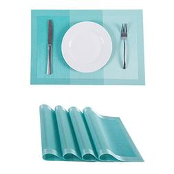 SUNSHINE FASHION Set of 4 Placemats,Placemats Dining Table,H