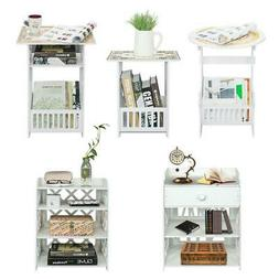 Portable Coffee Table Nightstand Bedroom Bedside Cabinet Mag