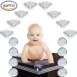 Baby Proofing Clear Corner Guards, 16 PCS Child Safety Table
