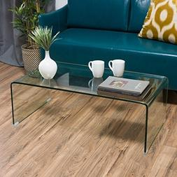 Ramona Glass Rectangle Coffee Table by Christopher Knight Ho