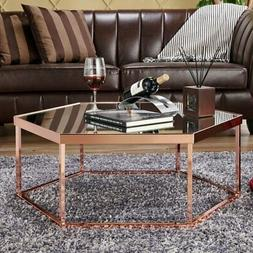 Furniture of America Raya Hexagon Coffee Table