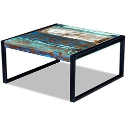 Festnight Reclaimed Wood Square Coffee Side Table Solid, 31.