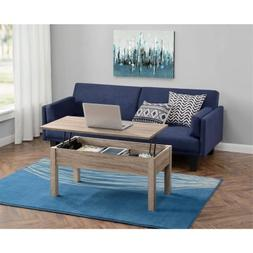 Rectangle Wood Lift-Top Coffee Table, Full Extending Mobile