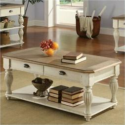 Beaumont Lane Rectangular Coffee Table in Dover White