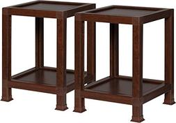 OneSpace 100% Recycled Paper End Tables, Teak