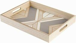 Refined Wood Serving Tray - Decorative for Home Decor or Cof