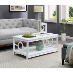 Convenience Concepts Ring Contemporary Coffee Table in White