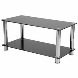 Flash Furniture Riverside Collection Black Glass Coffee Tabl