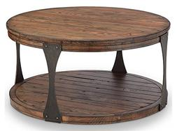 Magnussen Furniture Round Coffee Table in Distressed Bourbon