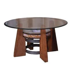 round coffee table in natural
