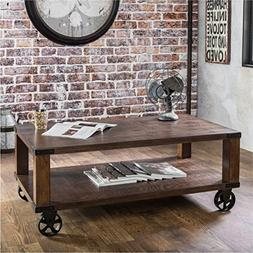 Furniture of America Royce Living Room Modern Industrial Woo