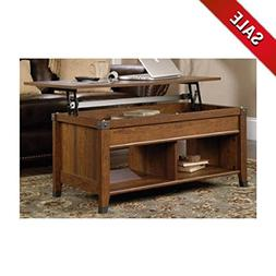 Rustic Farmhouse Coffee Table with Storage for Living Room D