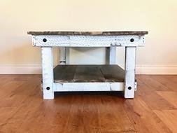 Rustic Handcrafted Reclaimed Square Coffee Table - Self Asse
