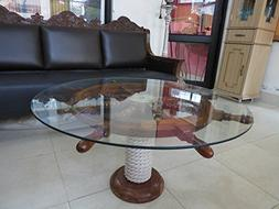"""SAILORS SPECIAL Nautical 36"""" Ship Wheel Table With Glass Top"""