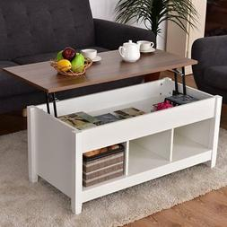 Sauder Costway Lift Top Living Room Coffee Table White