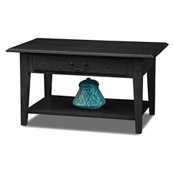 Leick Furniture Shaker Solid Wood Storage Coffee Table in Sl