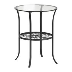 Klingsbo Side Table, Black, Clear Glass 10000