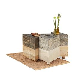 Native Home Set of 3 Side Tables, Triangular Coffee Table, M