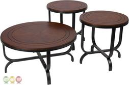 Signature Design by Ashley Ferlin 3 Piece Occasional Table S