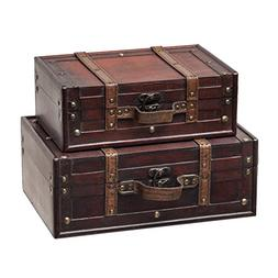 SLPR Decorative Suitcase with Straps  | Old-Fashioned Antiqu