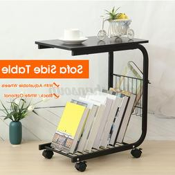 Sofa Side End Table Bedside C Shaped Coffee Snack Tray PC La