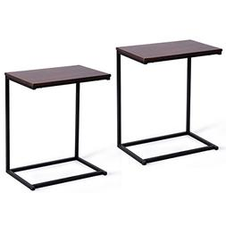 Tangkula Sofa Side End Table C Table Laptop Holder End Stand