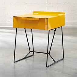 Sauder Soft Modern Collection End Table, Yellow Safron