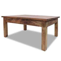 """vidaXL Solid Reclaimed Wood Coffee Table 38.6"""" Couch End Sid"""