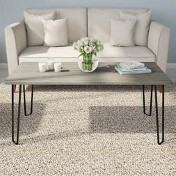 Steel Hairpin Metal Legs Coffee Table Living Room Accent Mod