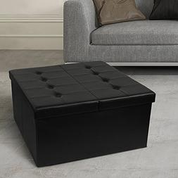 "Otto & Ben 30"" Storage Coffee Table with Smart Lift Top Tuft"