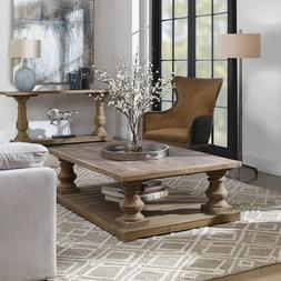 Uttermost Stratford Cocktail Table in Distressed Patina