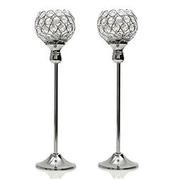 VINCIGANT Tall Crystal Candle Holders for Father's Day Coffe